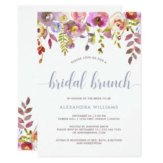 Lovely Trendy Floral   Bridal Brunch Invitation