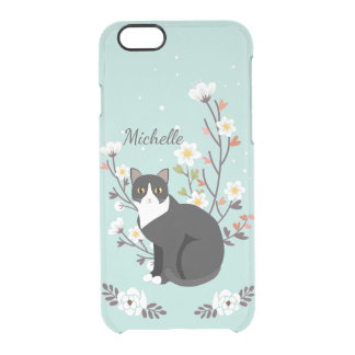 Lovely Tuxedo Cat iPhone 6 Clearly™ Deflector Clear iPhone 6/6S Case
