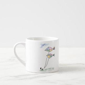 Lovely Two Kites Sketch Espresso Mug