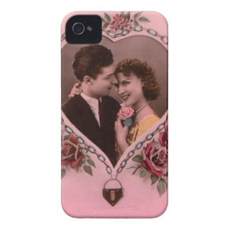 Lovely valentine couple vintage picture design iPhone 4 Case-Mate case