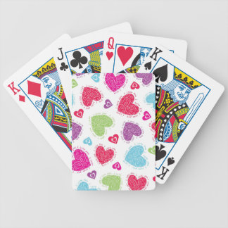 """Lovely Valentine's Day hearts and """"I love you""""text Bicycle Playing Cards"""