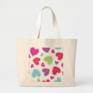 "Lovely Valentine's Day hearts and ""I love you""text Large Tote Bag"