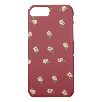 Lovely Vintage Flower Pattern iPhone 7 Case