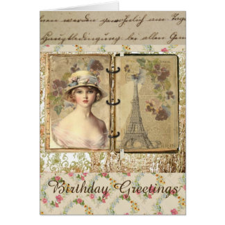 Lovely Vintage Style Birthday Card For Women