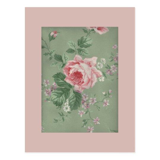 Lovely Vintage Victorian Rose Postcard