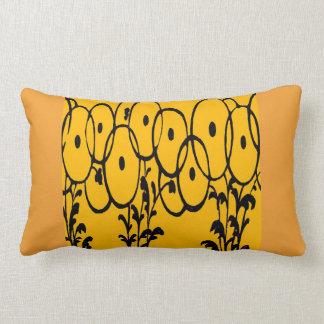 Lovely warm tangerine pumpkin boudoir pillows