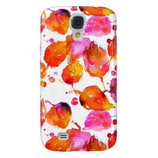 Lovely watercolor autumn leaves  pattern