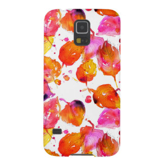 Lovely watercolor autumn leaves  pattern case for galaxy s5