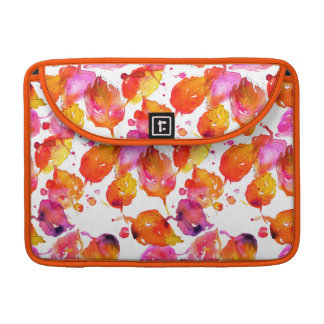Lovely watercolor autumn leaves  pattern sleeve for MacBooks