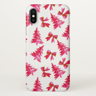 Lovely Watercolor Ditsy Christmas | iPhone X Case