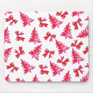 Lovely Watercolor Ditsy Christmas | Mousepad