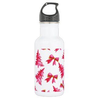 Lovely Watercolor Ditsy Christmas Water Bottle