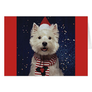 Lovely Westie Christmas-Themed Card