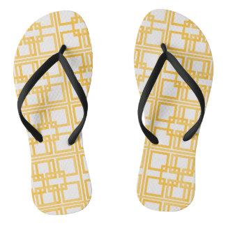Lovely White & Gold Royal Princess Pattern Flip Flops