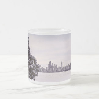 lovely winter Chicago - frosted glass mug