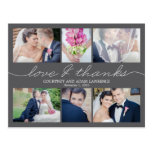 Lovely Writing Wedding Thank You Card - Grey Postcard