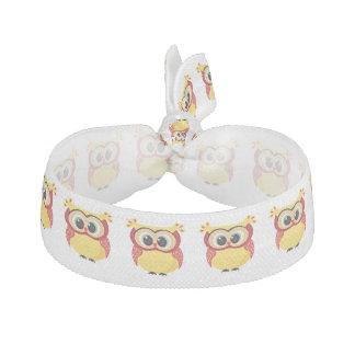 Lovely yellow baby owl elastic hair ties