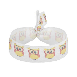 Lovely yellow baby owl hair tie
