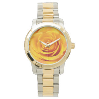 Lovely Yellow Rose Bloom Wristwatch