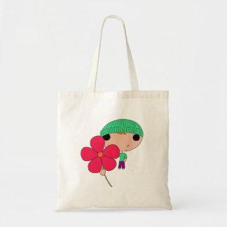 Lover Boy (Hot Pink Flower) Tote Bag