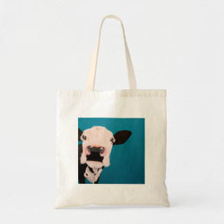 "' Lover Not a Fighter "" Cow tote bag."