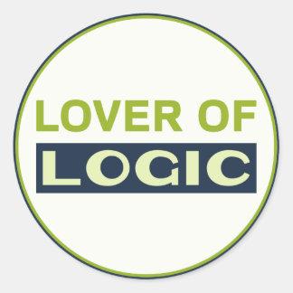 Lover of Logic Round Sticker