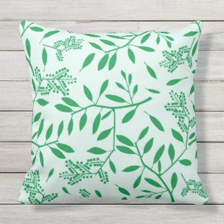 LOVERLY GREEN LEAVES AND BERRIES  throw cushion