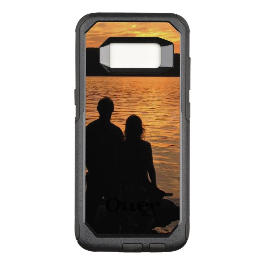 Lovers at Sunset Lake OtterBox Galaxy S8 Case