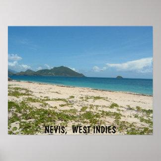 Lover's Beach, Nevis Poster