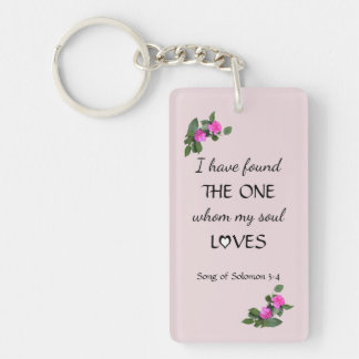 Lovers Bible Verse Keychain