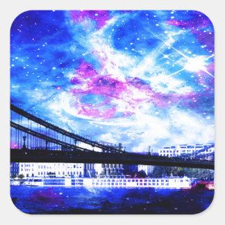 Lover's Budapest DreamsTake a glimpse of a Lover's Square Sticker