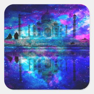 Lover's Creation Taj Mahal Dreams Square Sticker