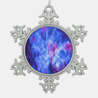 Lover's Dream Snowflake Pewter Christmas Ornament
