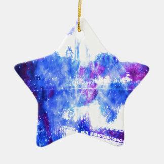 Lover's Dreams Bridge to Anywhere Ceramic Star Ornament