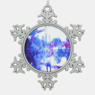Lover's Dreams Bridge to Anywhere Pewter Snowflake Ornament