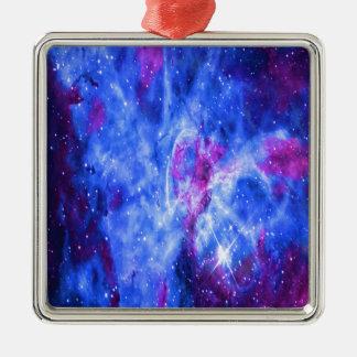 Lover's Dreams Silver-Colored Square Ornament