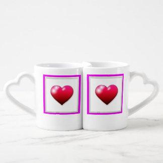 lovers framed heart mugs