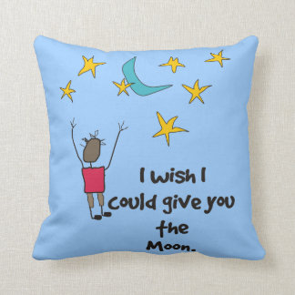 """Lovers """"Give You The Moon"""" Pillow"""