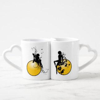 Lovers' Heart Coffee Mug Set