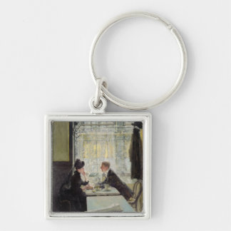Lovers in a Cafe Key Chains