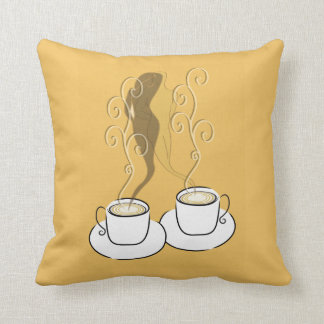 Lovers In Coffee Steam Pillow