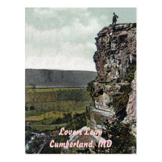 Lovers Leap Vintage Postcard
