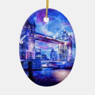 Lover's London Dreams Ceramic Oval Ornament