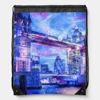 Lover's London Dreams Drawstring Bag