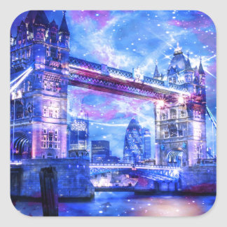 Lover's London Dreams Square Sticker