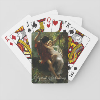 Lovers on a Swing. Spring by Pierre Auguste Cot Playing Cards