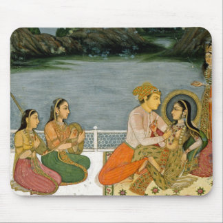 Lovers on a terrace by a moonlit lake, from the Sm Mouse Pads