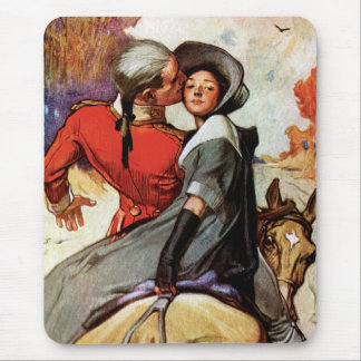 Lovers on Horseback Mouse Pad