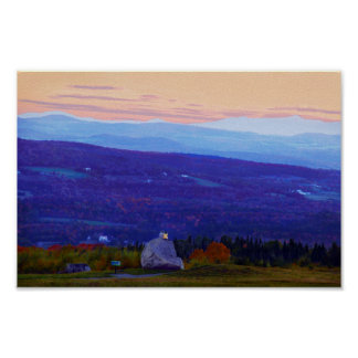 Lovers on Sentinel Rock at Sunset, Vermont Poster