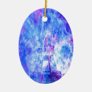 Lover's Parisian Dreams Ceramic Oval Ornament